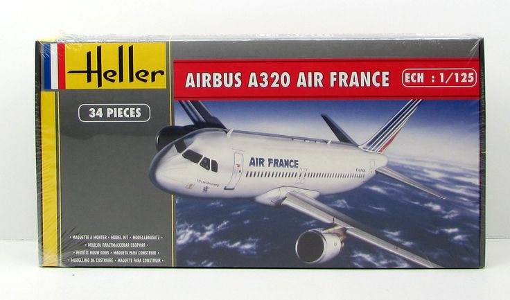 Heller 80448 Airbus A320 Air France New Airplane Plastic Model Kit