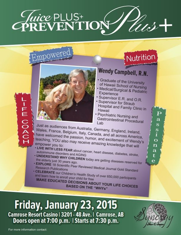 Join Wendy Campbell Friday, January 23, 2015 Cant be missed!  Be Inspired! #JPCANADA