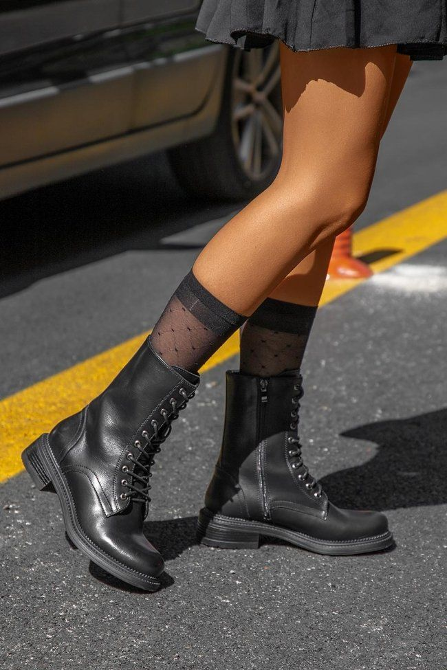 Combat Boots with Zipper in 2020 | Biker boots outfit, Boots