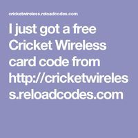I just got a free Cricket Wireless card code from http://cricketwireless.reloadcodes.com