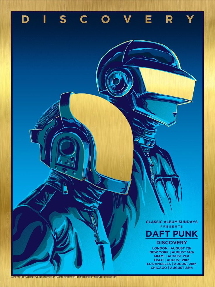 Daft Punk Poster by Tim Doyle