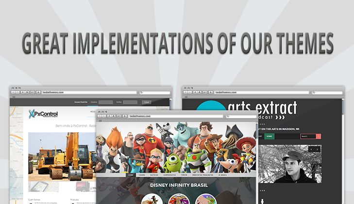 We've listed some great implementations of our WordPress Themes.