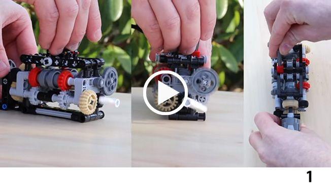 Alucinante y funcional caja de cambio de seis marchas hecha con Lego