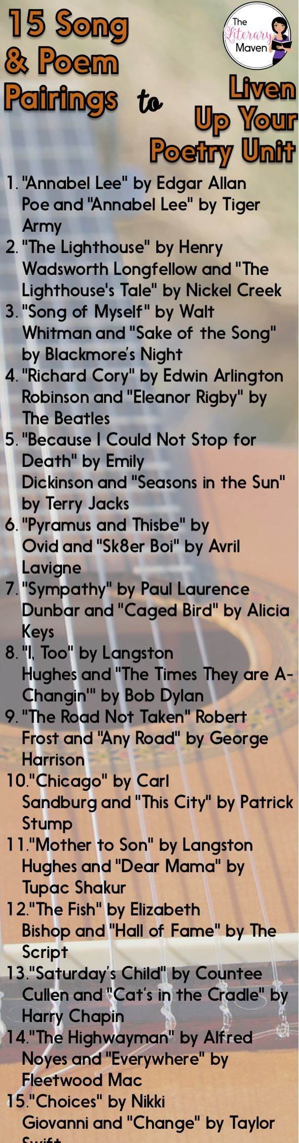 15 Poem and Song Pairings to Liven