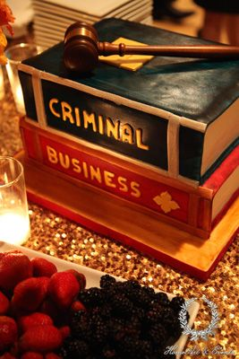 A cake by Cake Crumbs specially designed to honor the law school graduate! Fun and delicious.