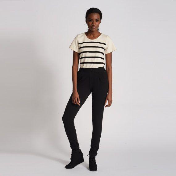 Black Trouser Sweats | Dressy Sweatpants by Skinny Sweats | Fancy Stretchy Work Pants | SALE XS