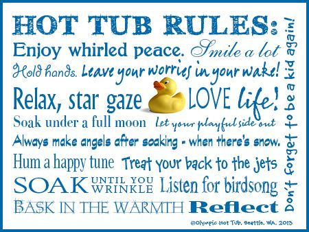 funny+hot+tub+rules | ... all the hot tub seasons of the year.~ Olympic Hot Tub Company