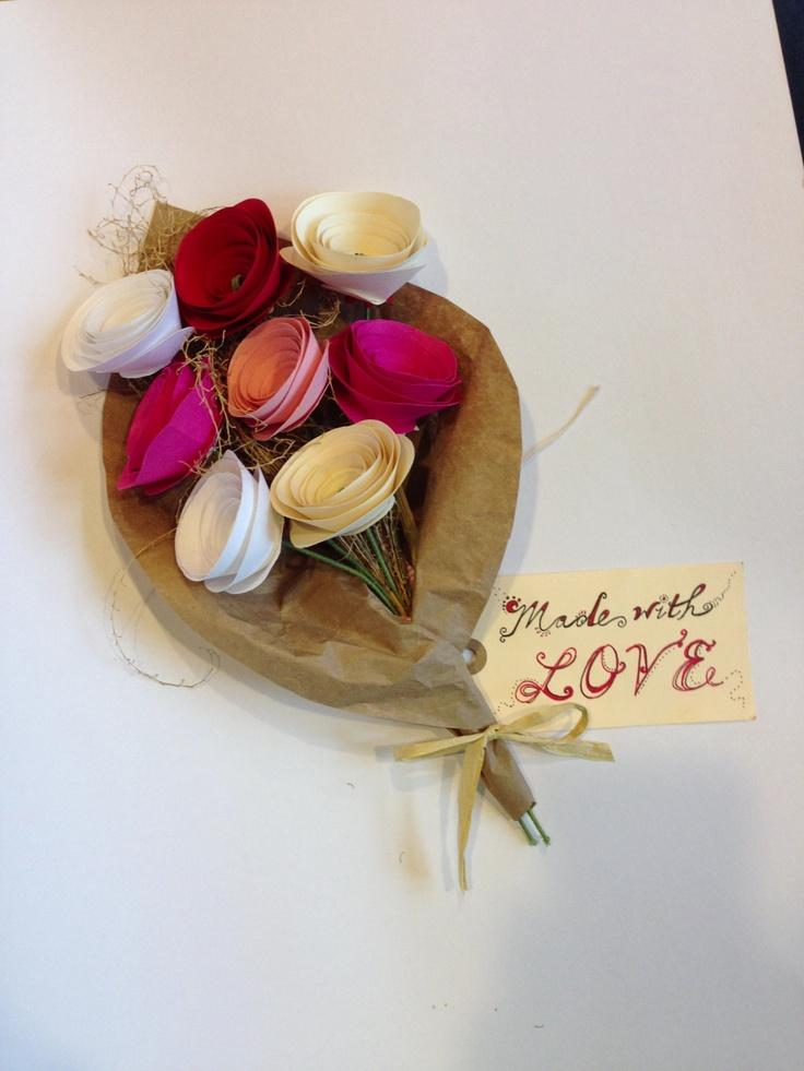 Valentine's Day Paper Bouquet. #valentine