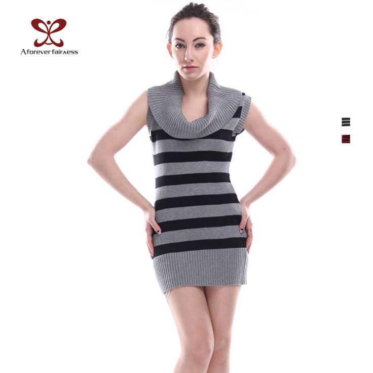 Winter Women Sweater Pullover Turtlel Neck Cotton Slim Casual Striped Sweater Dress Mother Knitted Sweater Pullover NC-237