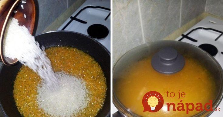 Skvelý tip na prípravu najchutnejšej ryže, ktorá sa vám vždy vydarí!