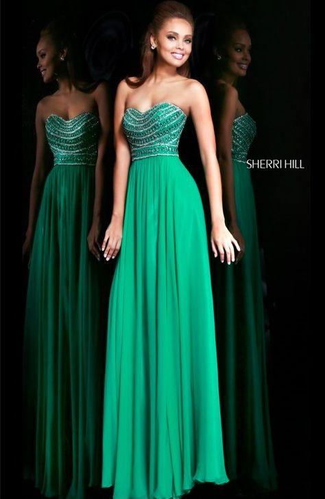Vestido verde corte imperio
