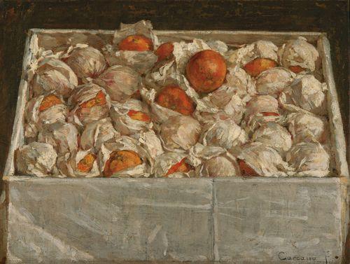 """Filippo Carcano, """"Appena arrivate"""" (1886; olio su tela, 52,5 x 69,5 cm; Milano, Galleria d'Arte Moderna)."""