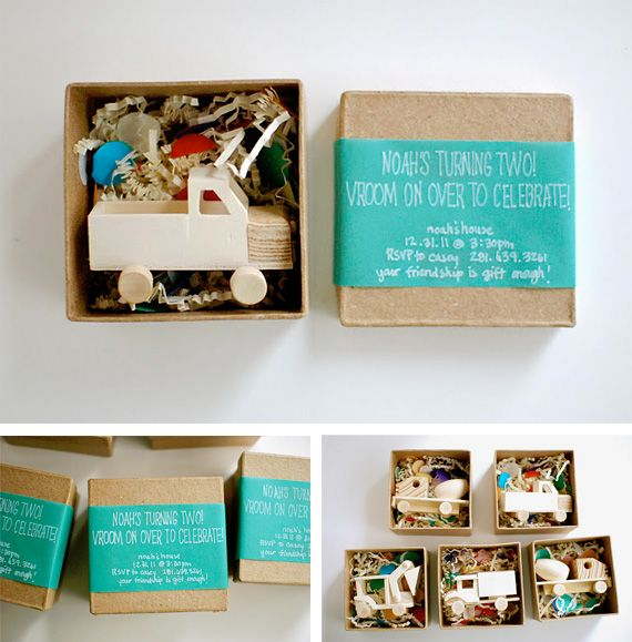 Truck invitations for a kids party
