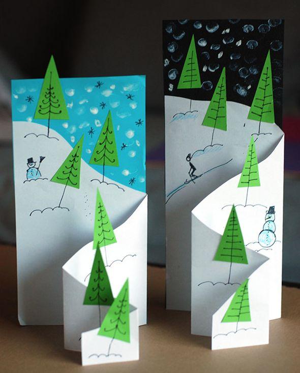 pyssel, pysseltips, pysselidé, inspiration, kreativitet, skapa, skapande, barns skapande, vinter, vinterpyssel, pyssla, pyssel för barn, barnpyssel, pyssel för skola, pyssel för förskola, familjepyssel, kort, vinterkort, jul, julpyssel, julkort, kort i 3D