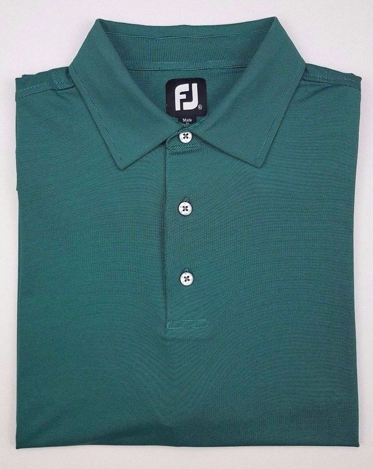 FootJoy Green Polo XL Mens Golf Micro Stripe Shirt Size Sz Ryder Cup Polyester** #FootJoy #PoloRugby