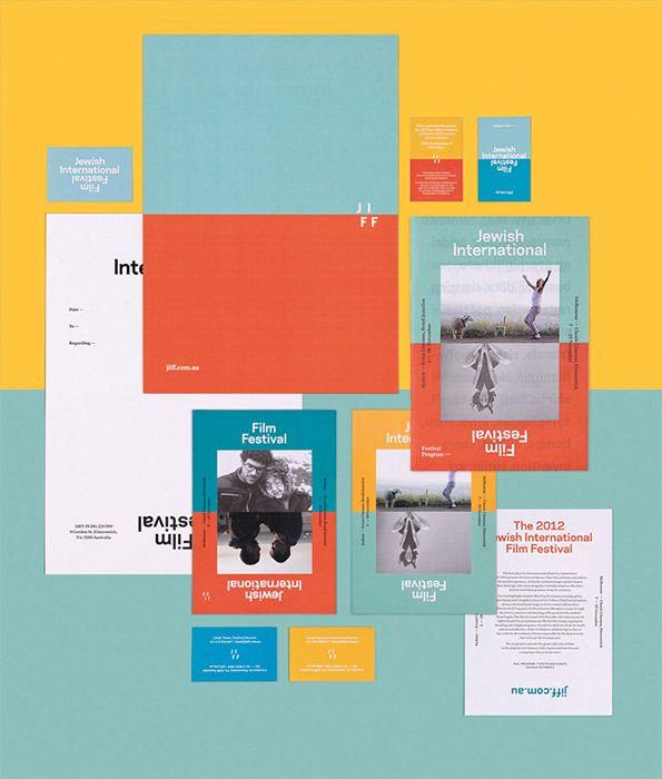 Graphic Design: Australian studio round ace Jewish film festival identity