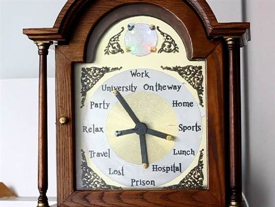 Real-life Harry Potter location-clock works via mobile app - MUST HAVE!