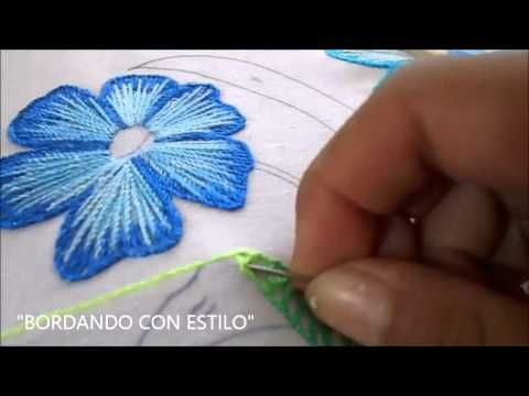 PASO A PASO (PUNTADA LARGA) - YouTube