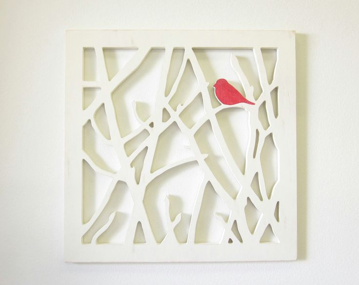 "Bird Wall Art-23"" 23"" OR DIY by cutting this out of a cheap hobby lobby canvas"