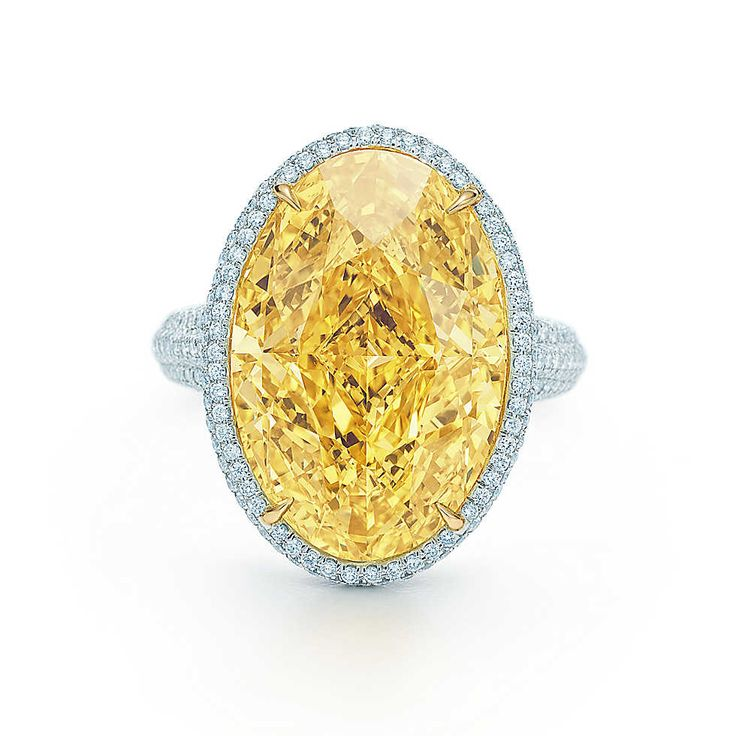 Oval Yellow Diamond Ring, £3.9m - A radiant Tiffany Yellow Diamond is