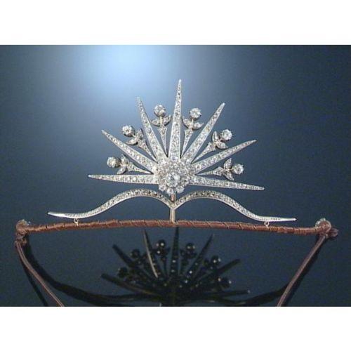 An 1880s diamond starburst tiara