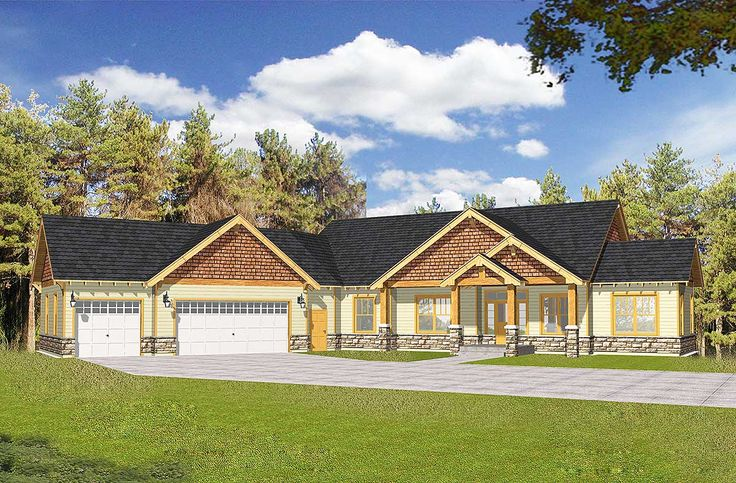 Plan 14030dt Craftsman With Vaulted Ceilings And Angled