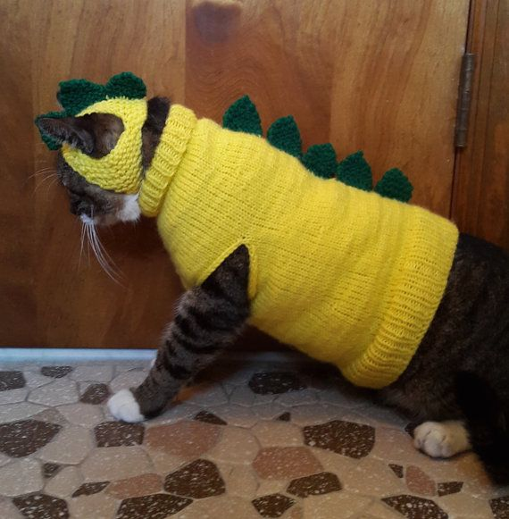 Cat Dinosaur Costume by StitchedAdventures on Etsy