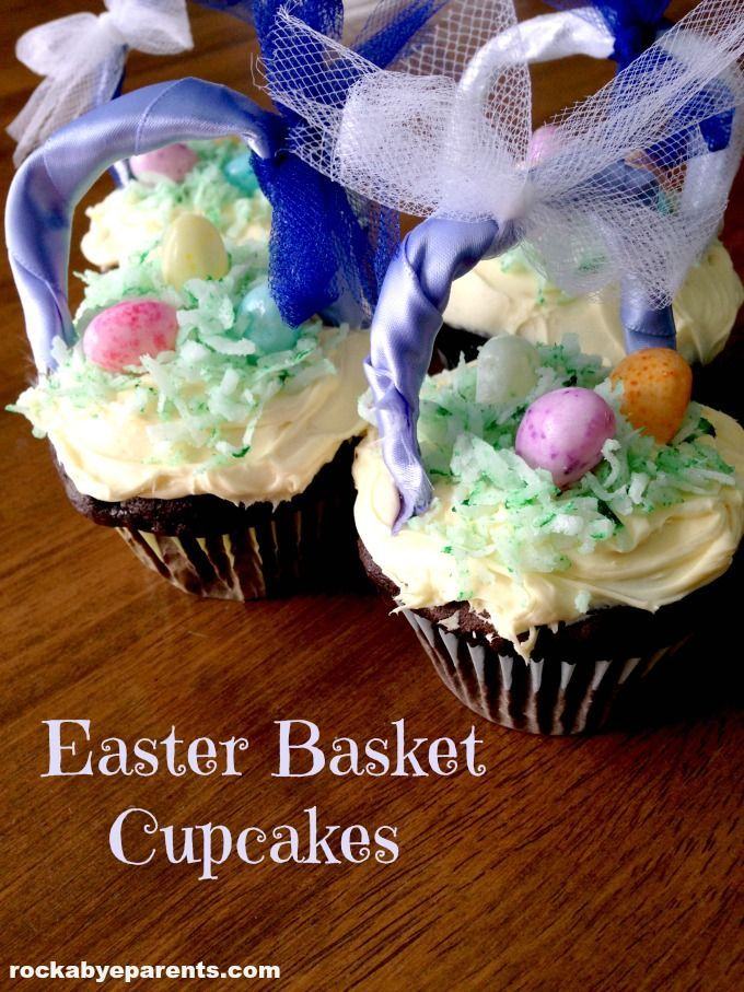 24 best holiday easter images on pinterest these easter basket cupcakes are so much fun with their adorable basket handles and jelly negle Gallery