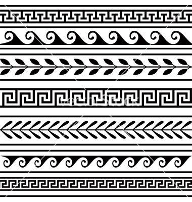 Set of geometric borders vector
