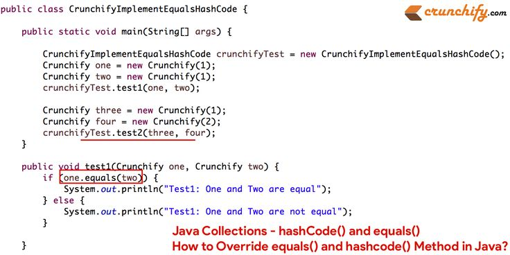 #Java Collections - hashCode() and equals() - How to Override equals() and hashcode() Method in #Java? https://crunchify.com/how-to-override-equals-and-hashcode-method-in-java/