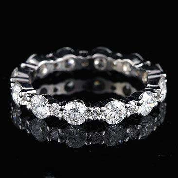 1.35Ct GVS Diamond Eternity Wedding Band 18K White by OroSpot