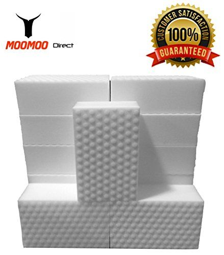 MOOMOO Magic Cleaning Eraser Sponge Melamine Foam - POWER CLEAN Edition 40 Pack (40)
