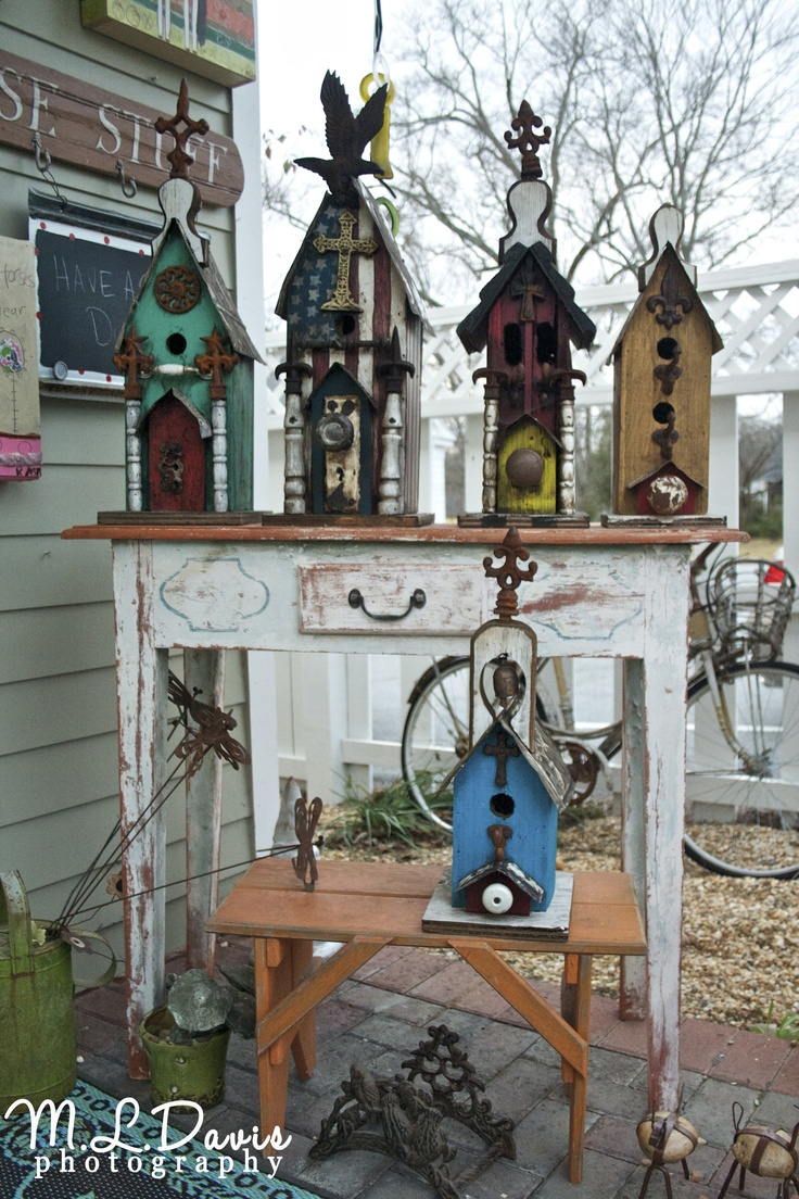 Eclectic birdhouses