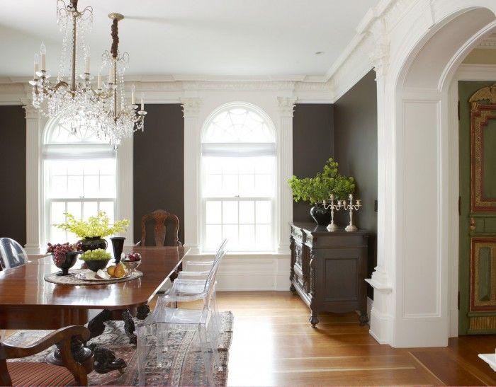 Idee Arredamento Soggiorno Moderno Classico Sala Da Pranzo with Ghost Chairs in Boston by Oak Hill Architects