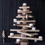 Houten kerstboom planken