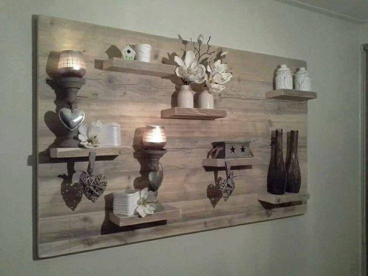 Wanddecoratie Keuken : Wanddecoratie Steigerhout