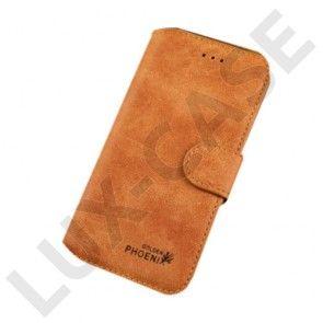 Golden Phoenix (Brun) iPhone 6 Plus Læder Flip Etui
