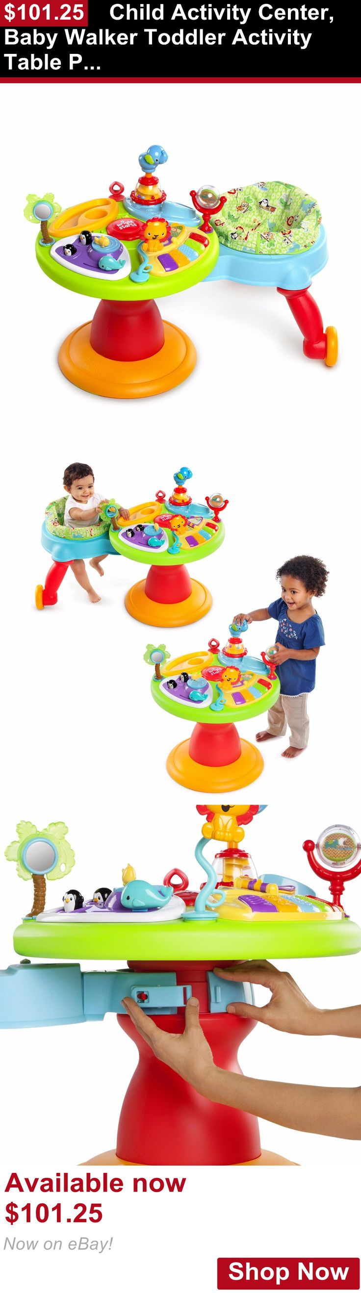 Baby activity centers: Child Activity Center, Baby Walker Toddler Activity Table Piano Station, Sounds BUY IT NOW ONLY: $101.25