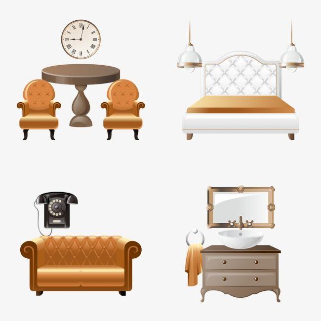 Canapé meubles, Lit, Lit, Dessin De MeublesPNG et vecteur