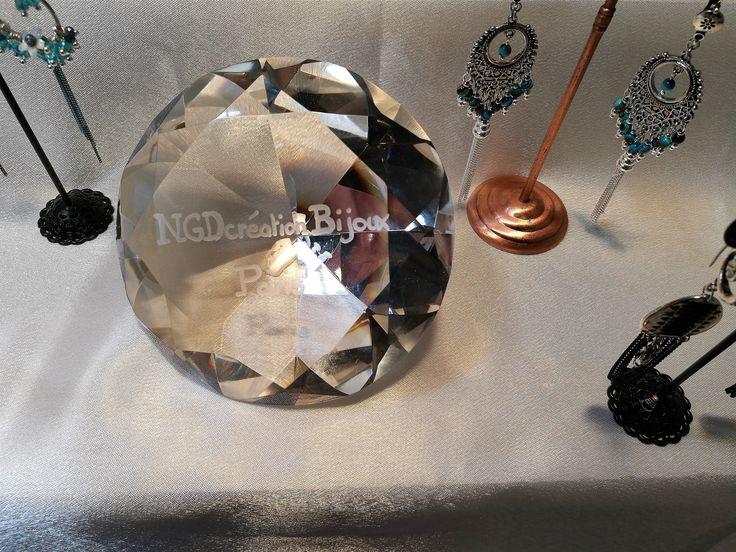 #trophéediamant en verre personnalisé#gravuresurverre#artisanale#logo