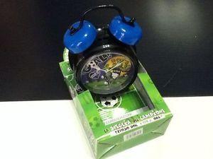 Sveglia grande Orologio NERO AZZURRO idea regalo tifoso calcio INTER | eBay
