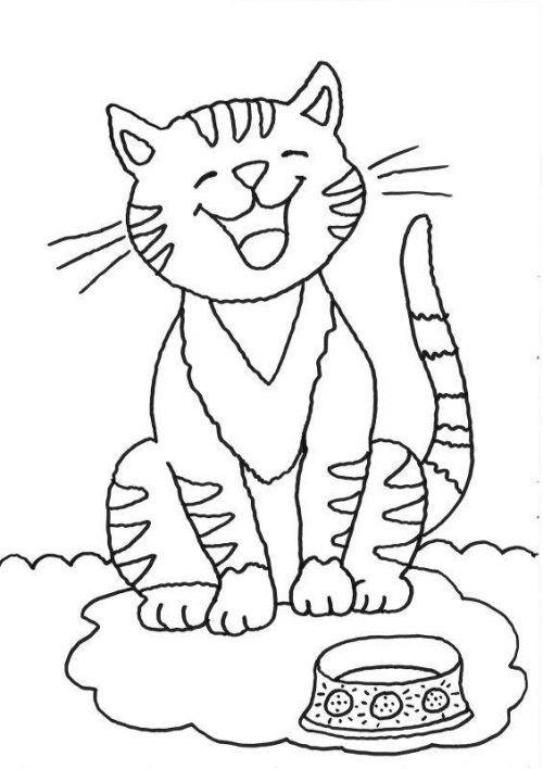 ausmalbilder katzen für kinder  kindermalvorlagentv