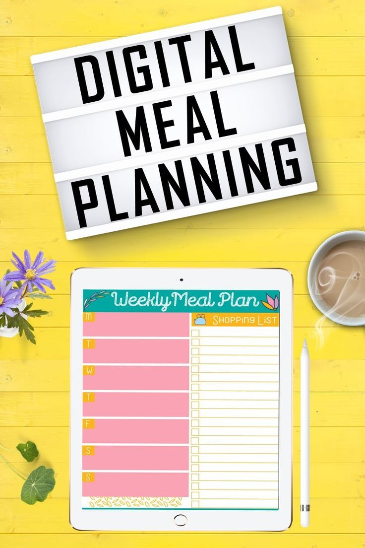 FREE Digital Meal Planning Template for GoodNotes. Use