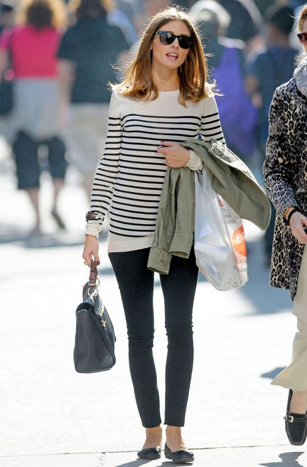 olivia palermo striped sweater street style