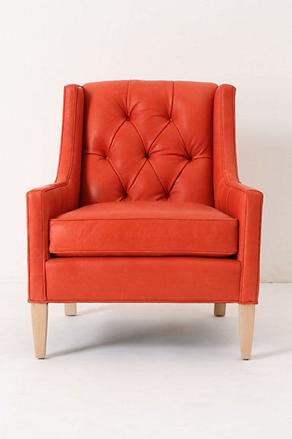 .Living Rooms, Anthropology, Colors, Red Chairs, Orange Chairs, Reading Chairs, Accent Chairs, Osman Chairs, Leather Chairs