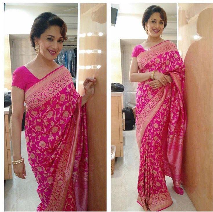Pink Sari - Madhuri Dixit Nene