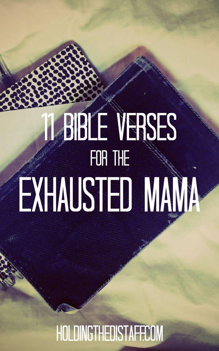 Encouraging Bible Verses for Exhausted Moms | Mom Encouragement #BibleVerses #ChristianMoms #Motherhood