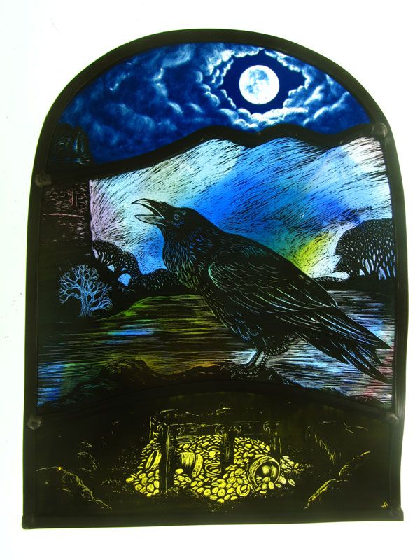 """""""The Lost Treasure of Bronsil"""" by stained glass artist, Tamsin Abbott"""