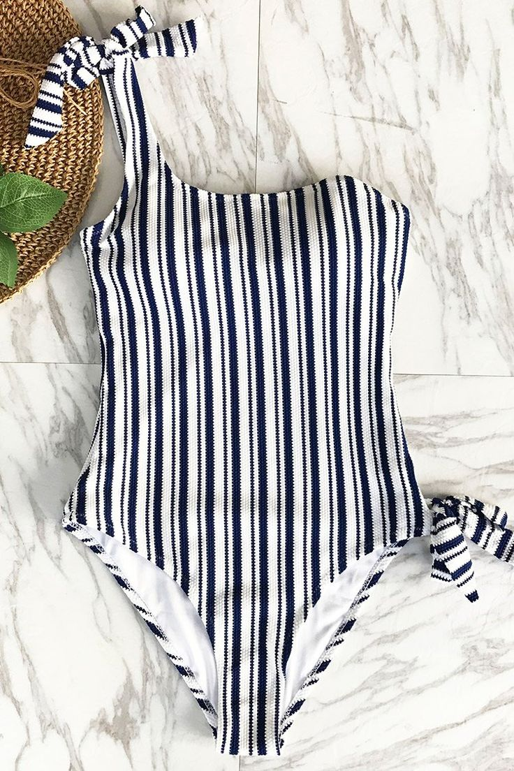 Cupshe Patron Of The Moon Stripe One-piece Swimsuit