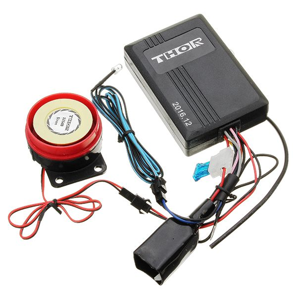 мотоцикл Светящаяся интеллектуальная сигнализация Датчик Электрический скутер Водонепроницаемы Противоугонная система IP62 125dB 12V
